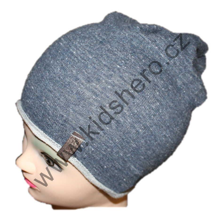 dětská bavlněná čepice se spadlým vrškem a4c8f1612b