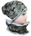 Dětský maskáčový set - čepice + nákrčník - bavlněný