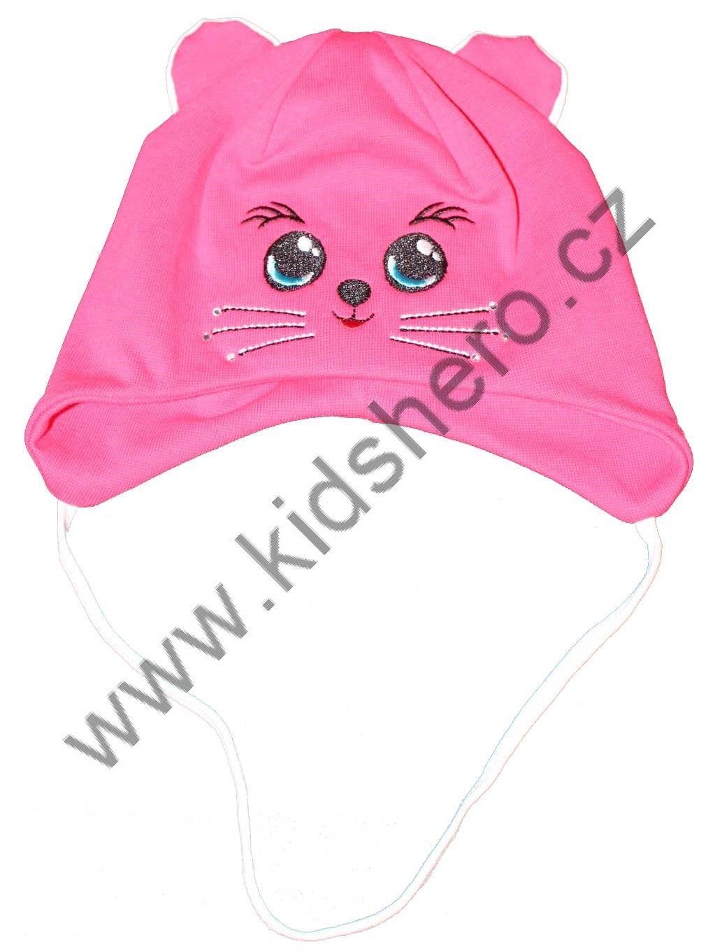 dětská čepice, kojenecká čepice, čepice pro miminka, dívčí čepice, jarní čepice, bavlněná čepice