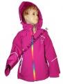 Jarní softshellová bunda - růžová-barevný zip