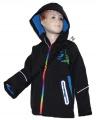 Jarní softshellová bunda - černá-barevný zip