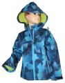 Jarní softshellová bunda - modrá - vzory