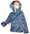 Jarní softshellová bunda - modrá s auty