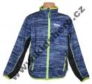 Sportovní mikina KUGO - tm.modrá se zeleným zipem