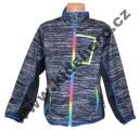 Sportovní mikina KUGO - černo-šedá-barevný zip
