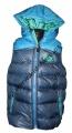 Dětská prošívaná vesta - modro-zelená