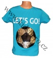 Měnící tričko kr.rukáv - chlapecké - sv.modré - míč