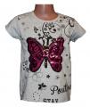 Měnící tričko, tunika kr.rukáv -  Motýl 2 - malé - šedé