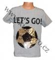 Měnící tričko kr.rukáv - chlapecké - sv.šedé - míč