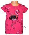 Měnící tričko, tunika kr.rukáv -  PLAMEŃÁK - malé - tm.růžové