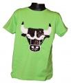 Měnící tričko kr.rukáv - chlapecké - býk - zelené