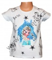 Měnící tričko, tunika kr.rukáv - kůň - Elsa  - bílá