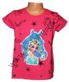 Měnící tričko, tunika kr.rukáv - kůň - Elsa  - tm.růžové