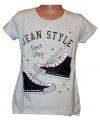 Měnící tričko, tunika kr.rukáv - tenisky - šedé