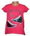 Měnící tričko, tunika kr.rukáv - tenisky - tm.růžové
