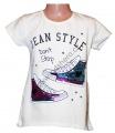 Měnící tričko, tunika kr.rukáv - tenisky - bílé