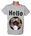Měnící tričko kr.rukáv - chlapecké - míč-smajlík - šedé