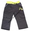 Softshellové kalhoty KUGO - pro nejmenší - šedo-žluté