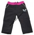 Softshellové kalhoty KUGO - pro nejmenší - černo-růžové
