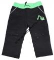Softshellové kalhoty KUGO - pro nejmenší - černo-zelené