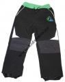Softshellové kalhoty KUGO-malé - černo-zelené
