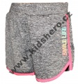 Dívčí sportovní kraťasy - KUGO - šedo-růžové 2