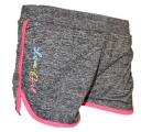 Dívčí sportovní kraťasy - KUGO - šedo-růžové - velké