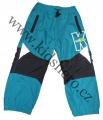 Zateplené šusťákové kalhoty KUGO  - malé - sv.modré 2