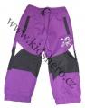 Zateplené šusťákové kalhoty KUGO  - malé - fialové 2