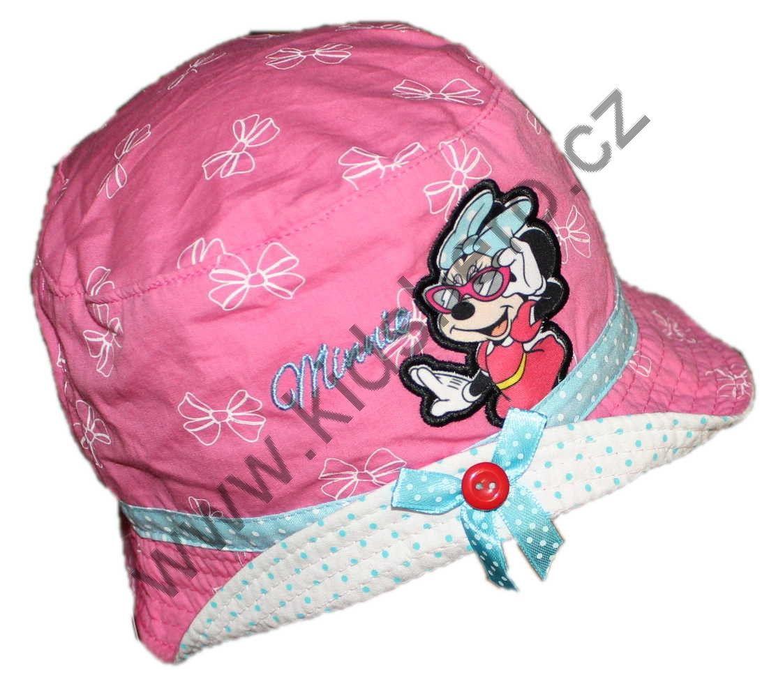 Dětský klobouk MINNIE dívčí licenční klobouk čepice Disney