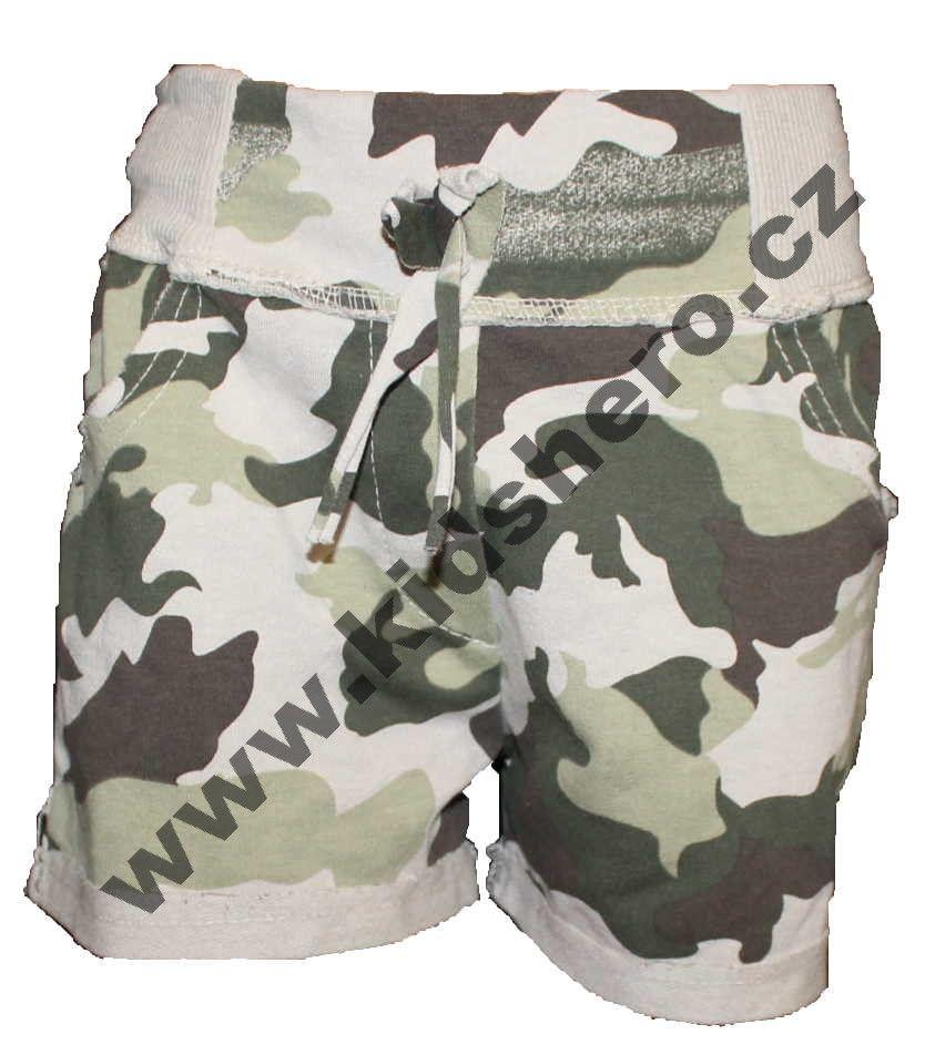 Dívčí maskáčové kraťasy, dívčí maskáčové šortky, kraťasy Army, dívčí army šortky ASIDA