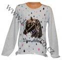 Měnící tričko, tunika dl.rukáv - sv.šedé - malé kůň 2