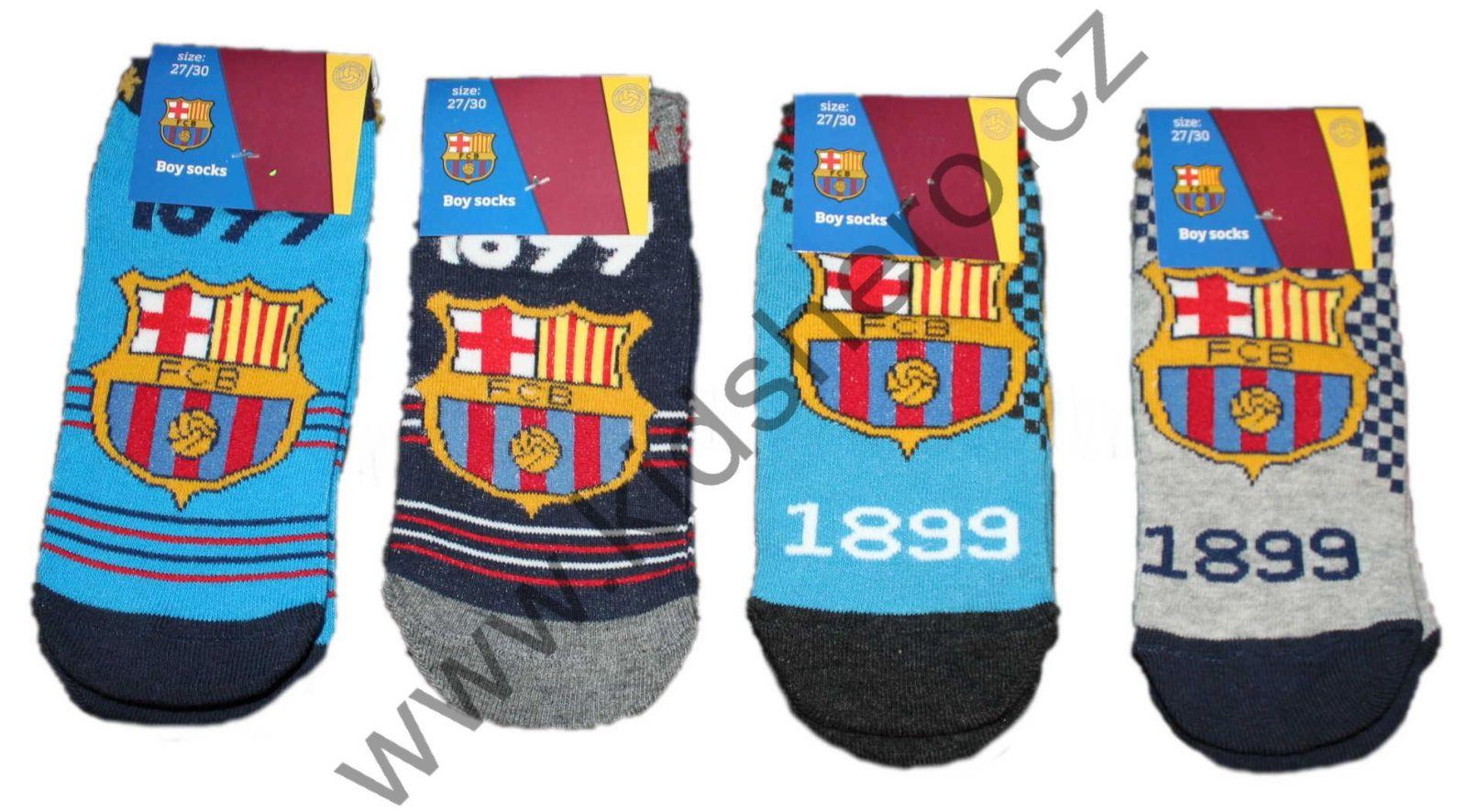 Ponožky FC BARCELONA dětské ponožky Barca, kotníkové ponožky FC Barcelona