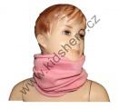 Šátek, nákrčník - sv.růžový