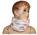 Šátek, nákrčník - slabý - bílo-růžový