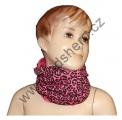 Šátek, nákrčník - slabý - růžovo-černý