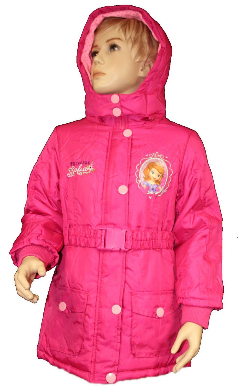 Zimní bunda zimní kabát sofia dětská zimní bunda disney